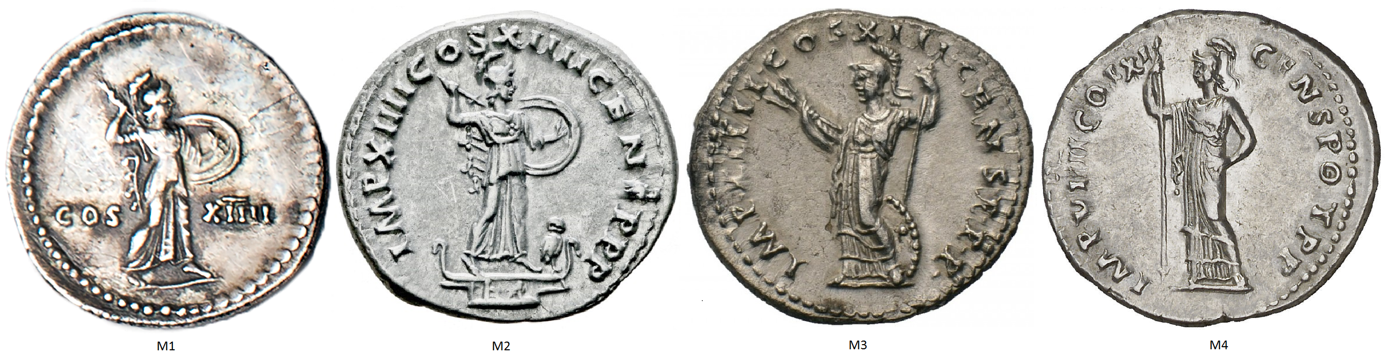 Four Minerva reverses